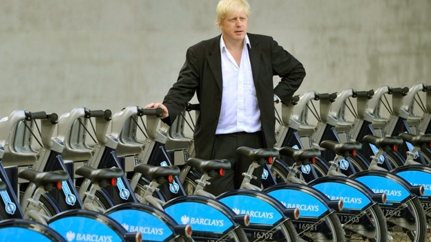 Boris with his bikes in London