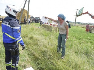 Enthusiastic protests by farmers brings stage 16 of the Tour de France race to a halt
