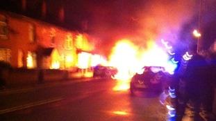 scene of crash in Boothstown