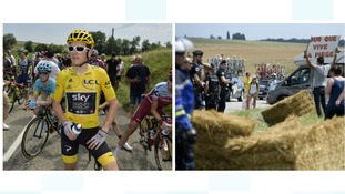 GERAINT THOMAS AND PROTEST