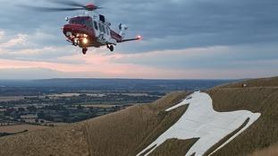 Paraglider injured on Westbury White Horse
