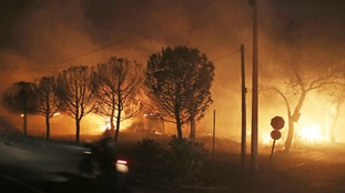 The fires spread at speeds of 50mph winds - cutting off escape routes.