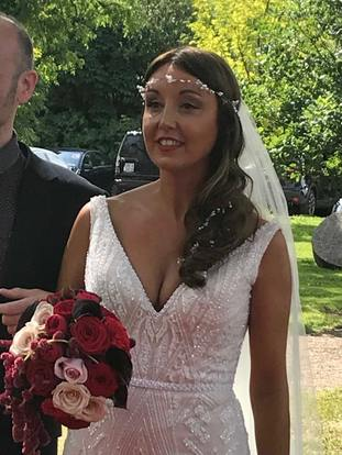Newlywed Zoe Holohan is being treated in hospital for burns to her head and hands (Handout/PA)