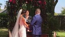 The wedding of Zoe Holohan and Brian O'Callaghan-Westropp, who have been caught up in the wildfires in Greece