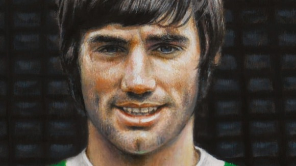 Irish football legend George Best is featured on the special stamps