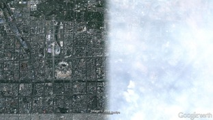 Before and after: Beijing's pollution problem visible from space