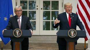 European Commission President Jean-Claude Juncker with President Donald Trump