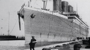 Titanic setting sail for Southampton from Belfast.