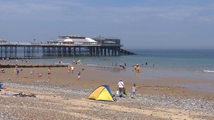 People have been flocking to beach resorts like Cromer to lap up the sun.