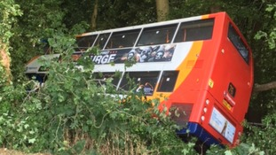 Two-year-old boy among 19 injured in a bus crash in Hampshire
