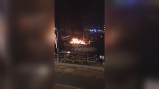 Boat destroyed by fire and four others damaged at Ramsgate Marina
