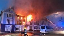 Aberystwyth hotel blaze