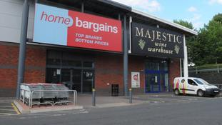 The Home Bargains store on the Shrub Hill Retail Park in Tallow Hill, Worcester.