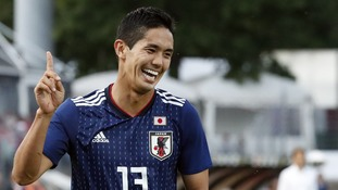 Striker Yoshinori Muto looks set to sign for Newcastle if granted a work permit