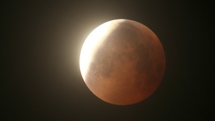 Lunar Eclipse as seen from the Channel Islands