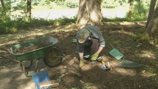 Archaeological dig uncovers wartime past of Sussex
