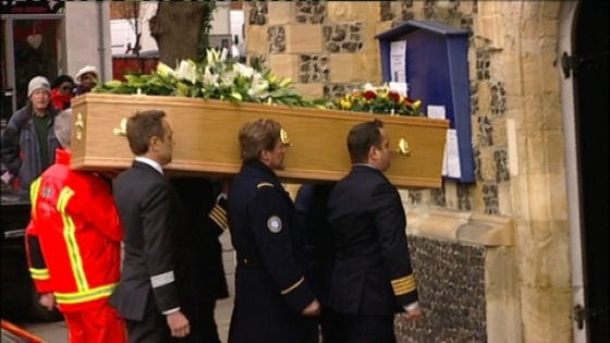 Funeral of Nottingham pilot, Peter Barnes