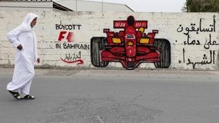Anti-Formula One graffiti in Bahrain.