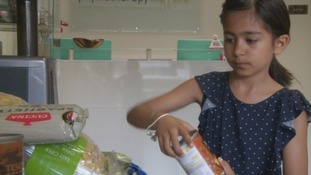 Nine-year-old spends holidays collecting for foodbank