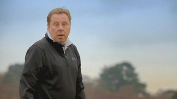 Longtime Dorset resident Harry Redknapp is pictured playing golf in the ad