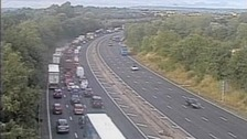 Tailbacks on the M5 after a serious crash