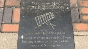 The Xylophone Man remembers Frank Robinson who played the instrument in Nottingham.