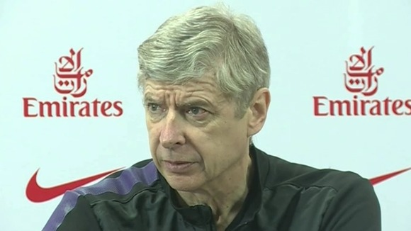 The Arsenal manager speaking at a press conference yesterday