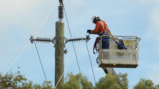 Line-workers construct and maintain power and cable lines.