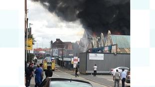 Several cars alight in huge blaze in Smethwick