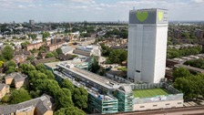 Grenfell Tower, now covered in plastic sheeting, will be managed by the government.
