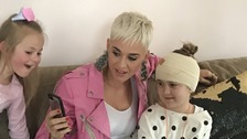 Katy Perry shared a video of herself performing a private gig for a seriously ill fan.