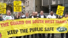 RMT unions members protesting