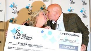 Retired couple's EuroMillions ticket mistakenly ripped in half wins nearly £58 million