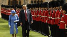 The Queen and US President Donald Trump during their recent meeting at Windsor Castle
