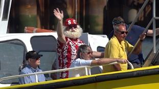 Santa makes a summer trip to Felixstowe