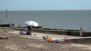 The beach at Felixstowe