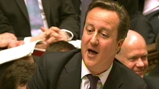 David Cameron speaks during Prime Minister&#x27;s Questions