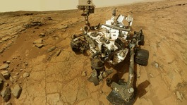 NASA&#x27;s Mars rover Curiosity is pictured in this handout self-portrait