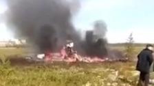 The scene of the crash in Siberia.