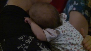 Mums were encouraged to breastfeed at today's event in Derby.