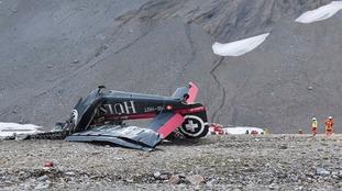 All 20 people on board World War II plane die after Swiss Alps crash