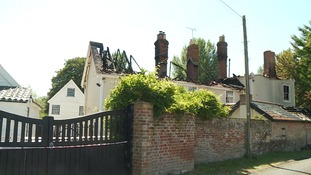 Grade II listed house worth more than £1 million badly damaged in fire