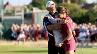 Family triumph as Hall's dad acts as caddy