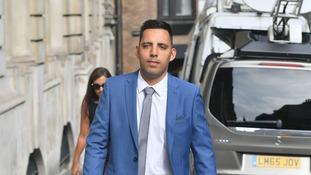 Ryan Ali arrives at court.