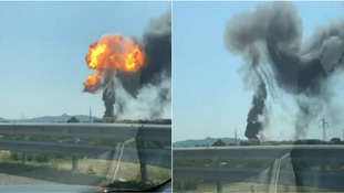 Two dead and up to 70 injured after tanker explodes on motorway in Bologna