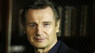 Liam Neeson spotted in Belfast during filming