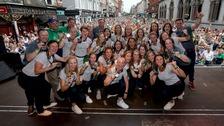 Ireland hockey stars return to heroes' welcomes
