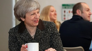 Theresa May visited Ayr in Scotland earlier this year in March 2018.