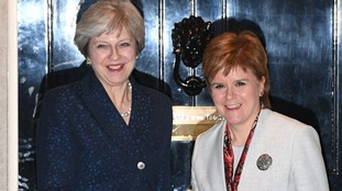 Nicola Sturgeon pictured with Theresa May after talks in November 2017.