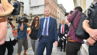 Ben Stokes arriving at court for his trial for affray.